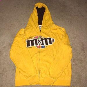 M&Ms zip up hoodie